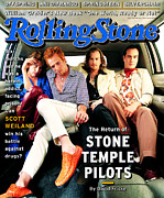 Stone Framed Prints - Rolling Stone Cover - Volume #753 - 2/23/1997 - Stone Temple Pilots Framed Print by Mark Seliger