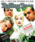 Featured Framed Prints - Rolling Stone Cover - Volume #759 - 5/1/1997 - No Doubt Framed Print by Norbert Schoerner