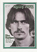 James Photo Framed Prints - Rolling Stone Cover - Volume #76 - 2/28/1971 - James Taylor Framed Print by Baron Wolman