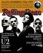 U2 Photo Framed Prints - Rolling Stone Cover - Volume #761 - 5/29/1997 - U2 Framed Print by Albert Watson