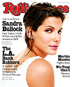 Featured Acrylic Prints - Rolling Stone Cover - Volume #763 - 6/26/1997 - Sandra Bullock Acrylic Print by Brigitte Lacombe