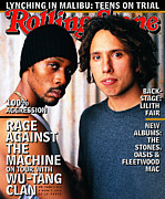 Featured Framed Prints - Rolling Stone Cover - Volume #768 - 9/4/1997 - Wu-Tang Clan and Rage Against the Machine Framed Print by Mark Seliger
