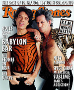 Mick Jagger Metal Prints - Rolling Stone Cover - Volume #775 - 12/11/1997 - Mick Jagger and Keith Richards Metal Print by Mark Seliger