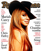 Mariah Carey Prints - Rolling Stone Cover - Volume #779 - 2/5/1998 - Mariah Carey Print by Albert Watson