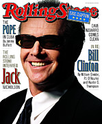 Celebrities Photo Framed Prints - Rolling Stone Cover - Volume #782 - 3/19/1998 - Jack Nicholson Framed Print by Albert Watson