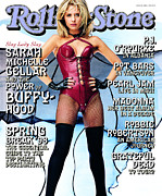 Roll Framed Prints - Rolling Stone Cover - Volume #783 - 4/2/1998 - Sarah Michelle Gellar Framed Print by Mark Seliger