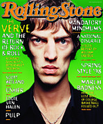 Featured Framed Prints - Rolling Stone Cover - Volume #784 - 4/25/1998 - The Verve Framed Print by Mark Seliger