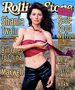 Rock N Roll Posters - Rolling Stone Cover - Volume #794 - 9/3/1998 - Shania Twain Poster by Mark Seliger