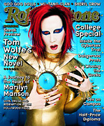 Marilyn Photo Metal Prints - Rolling Stone Cover - Volume #797 - 10/15/1998 - Marilyn Manson Metal Print by Mark Seliger