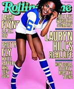 Featured Framed Prints - Rolling Stone Cover - Volume #806 - 2/18/1999 - Lauryn Hill Framed Print by Mark Seliger