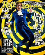Mike Framed Prints - Rolling Stone Cover - Volume #814 - 6/10/1999 - Mike Myers Framed Print by Mark Seliger