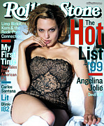 Jolie Framed Prints - Rolling Stone Cover - Volume #819 - 8/19/1999 - Angelina Jolie Framed Print by Mark Seliger