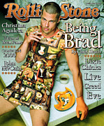 Pitt Framed Prints - Rolling Stone Cover - Volume #824 - 10/28/1999 - Brad Pitt Framed Print by Mark Seliger