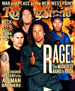Machine Framed Prints - Rolling Stone Cover - Volume #826 - 11/25/1999 - Rage Against the Machine Framed Print by Martin Schoeller