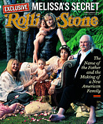 Featured Framed Prints - Rolling Stone Cover - Volume #833 - 2/3/2000 - Melissa Etheridge and David Crosby Framed Print by Mark Seliger