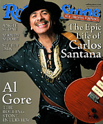 Carlos Framed Prints - Rolling Stone Cover - Volume #836 - 3/16/2000 - Carlos Santana Framed Print by Mark Seliger