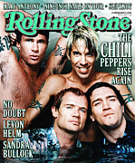 Rollingstone Prints - Rolling Stone Cover - Volume #839 - 4/27/2000 - Red Hot Chili Peppers  Print by Martin Schoeller