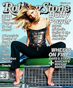 Michelle Framed Prints - Rolling Stone Cover - Volume #840 - 5/11/2000 - Sarah Michelle Gellar Framed Print by Stewart Shining