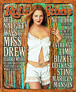 Featured Prints - Rolling Stone Cover - Volume #854 - 11/23/2000 - Drew Barrymore Print by Mark Seliger