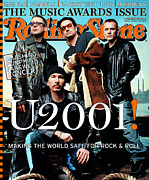 U2 Photo Framed Prints - Rolling Stone Cover - Volume #860 - 1/18/2001 - U2 Framed Print by Mark Seliger