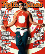 Rolling Stone Art - Rolling Stone Cover - Volume #861 - 2/1/2001 - Johnny Knoxville by Mark Seliger