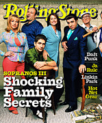 Covers Prints - Rolling Stone Cover - Volume #865 - 3/29/2001 - Cast of The Sopranos Print by Mark Seliger