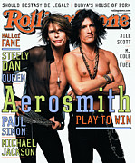 Roll Framed Prints - Rolling Stone Cover - Volume #867 - 4/26/2001 - Steven Tyler and Joe Perry Framed Print by Mark Seliger