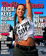 Covers Posters - Rolling Stone Cover - Volume #881 - 10/16/2001 - Alicia Keys Poster by Mark Seliger