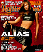Rock N Roll Posters - Rolling Stone Cover - Volume #889 - 2/14/2002 - Jennifer Garner Poster by Isabel Snyder