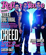 Rock N Roll Posters - Rolling Stone Cover - Volume #890 - 2/28/2002 - Creed Poster by Len Irish