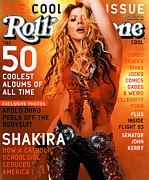 Roll Framed Prints - Rolling Stone Cover - Volume #893 - 4/11/2002 - Shakira Framed Print by Martin Schoeller