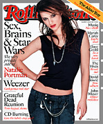 Natalie Portman Prints - Rolling Stone Cover - Volume #898 - 6/20/2002 - Natalie Portman Print by Albert Watson