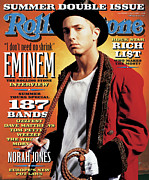 Featured Prints - Rolling Stone Cover - Volume #899 - 7/4/2002 - Eminem Print by Jeff Riedel