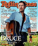 Bruce Springsteen. Framed Prints - Rolling Stone Cover - Volume #903 - 8/20/2002 - Bruce Springsteen Framed Print by Martin Schoeller