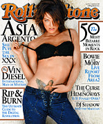 Asia Photo Metal Prints - Rolling Stone Cover - Volume #904 - 9/5/2002 - Asia Argento Metal Print by Tony Duran