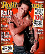 Keith Richards Prints - Rolling Stone Cover - Volume #907 - 10/17/2002 - Keith Richards Print by Sante D