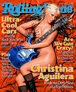 Christina Posters - Rolling Stone Cover - Volume #909 - 11/14/2002 - Christina Aguilera Poster by Albert Watson