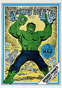 Hulk Metal Prints - Rolling Stone Cover - Volume #91 - 9/16/1971 - The Incredible Hulk Metal Print by Herb Trimpe
