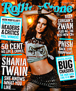 Rolling Stone Art - Rolling Stone Cover - Volume #915 - 2/6/2003 - Shania Twain by Michael Thompson
