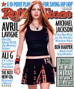 Featured Prints - Rolling Stone Cover - Volume #918 - 3/18/2003 - Avril Lavigne Print by Martin Schoeller