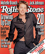 Clay Framed Prints - Rolling Stone Cover - Volume #926 - 7/10/2003 - Clay Aiken Framed Print by Matthew Rolston