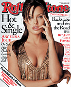 Featured Acrylic Prints - Rolling Stone Cover - Volume #928 - 8/7/2003 - Angelina Jolie Acrylic Print by Matthew Rolston