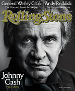 Rolling Stone Metal Prints - Rolling Stone Cover - Volume #933 - 10/16/2003 - Johnny Cash Metal Print by Mark Seliger