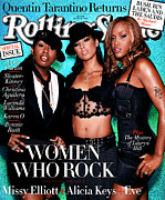 Featured Framed Prints - Rolling Stone Cover - Volume #934 - 10/30/2003 - Women in Rock Framed Print by Max Vadukul