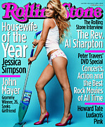 Featured Prints - Rolling Stone Cover - Volume #936 - 11/27/2003 - Jessica Simpson Print by Max Vadukul