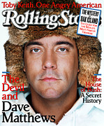 Covers Photo Prints - Rolling Stone Cover - Volume #940 - 1/22/2004 - Dave Matthews Print by Martin Schoeller