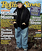 Michael Photo Framed Prints - Rolling Stone Cover - Volume #957 - 9/16/2004 - Michael Moore Framed Print by Albert Watson