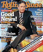 Featured Acrylic Prints - Rolling Stone Cover - Volume #960 - 10/28/2004 - Jon Stewart Acrylic Print by Michael O