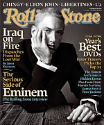 Roll Framed Prints - Rolling Stone Cover - Volume #962 - 11/25/2004 - Eminem Framed Print by Norman Jean Roy