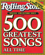 Greatest Metal Prints - Rolling Stone Cover - Volume #963 - 12/9/2004 - The 500 Greatest Songs of All-Time Metal Print by Typographical